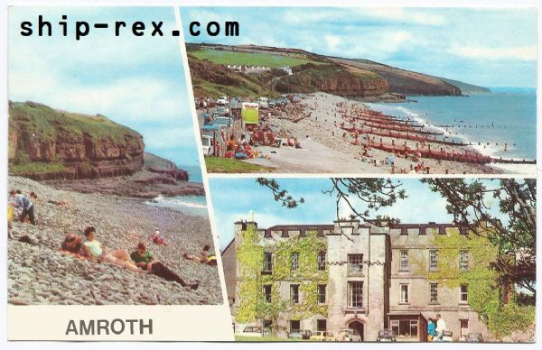 Amroth - multiview postcard